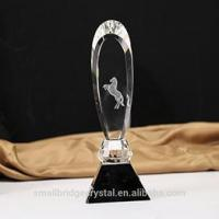 3D Laser personality sword shape crystal trophy for gift