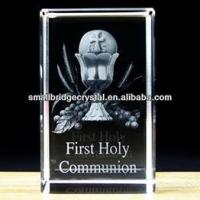 Buy cheap 3D Laser 3d laser crystal block gifts with first holy communion RELIGION from wholesalers