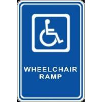 Buy cheap Custom Signs Handicap Signs (12w x 18h, .40 Aluminum) from wholesalers