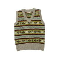 Buy cheap Aero Clothing Oatmeal Shetland Fair Isle Pullover, Knitted in Scotland from wholesalers