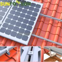 Buy cheap Tile Roof Aluminum Mount/bracket/racking System For Solar Panel from wholesalers