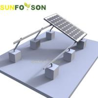 China Solar Panel System Mounting Structure Pv Solar Flat Roof Mount on sale