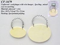 Buy cheap Craft wood - oval plaque with wired hanger, 2pcs/bag, mixed sizes in each bag product
