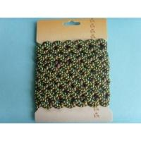 Buy cheap custom black green leaf polyester zigzag ribbon from wholesalers