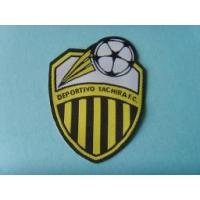 Buy cheap Cut edge padding backing T shirt woven label from wholesalers