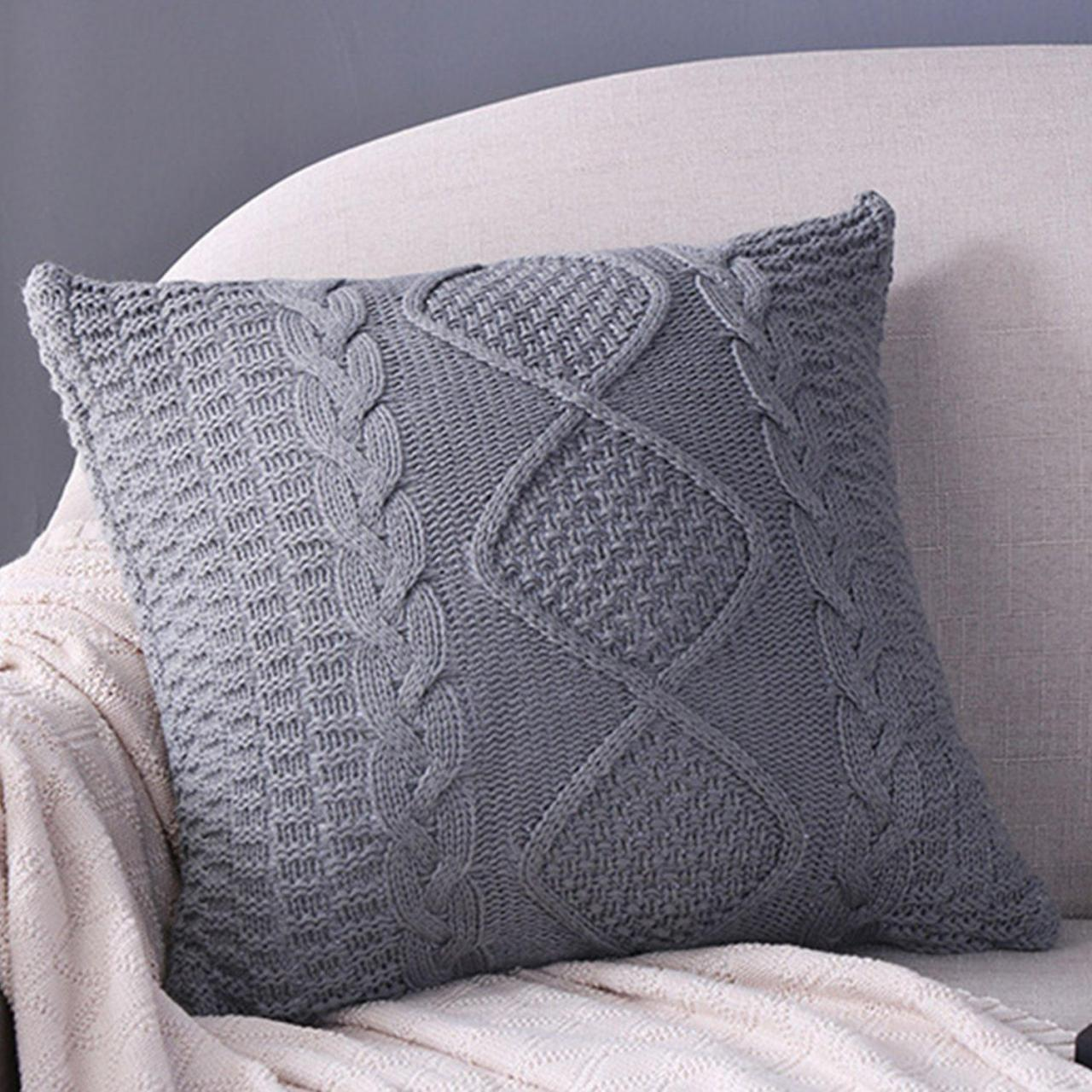 Buy cheap CUSHIONS Cotton Knitted Cushion- Grey from wholesalers