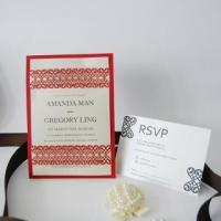 Buy cheap Laser Cut Invitation Card Item ID #IC1403-06 from wholesalers