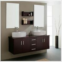 Buy cheap Decoration Ideas Charming Free Standing Pink Wooden Bath Vanity Cabinet With Chrome Faucet Sink from wholesalers