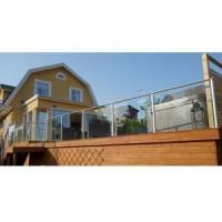 Buy cheap outdoor Aluminum Glass balcony railing powder coating from wholesalers
