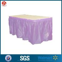 Cheap Wholesale Ruffled Plastic Fitted Table Skirt 29x14 With Sticky Glue