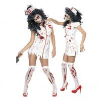 Buy cheap Sexy White Dress Ghost Nurse Cosplay Halloween Costumes China Wholesale from wholesalers