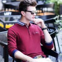 Buy cheap Normal design long sleeve red knitted polo shirt for men from wholesalers