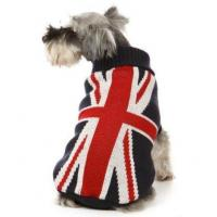 Buy cheap Pet accessories dog apparel british flat pattern sweater fashionable hot pet dog clothes from wholesalers