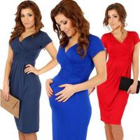 Buy cheap Formal design short sleeve Maternity dress for office from wholesalers