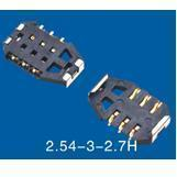 Buy cheap SIM Card Connector 2.54-3-2.7H product