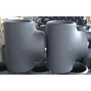 Quality ASTM A234 WPB Reducing Tee, DN150 X DN100, SCH 80, BW, Black Coating for sale