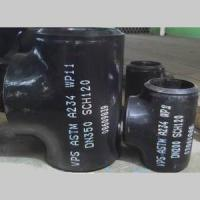 Buy cheap ASME B16.9 Seamless Equal Tee, ASTM A234 WP11, SCH 120, DN350 product