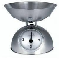 Retro metal mechanical kitchen balance scale with stainless steel bowl