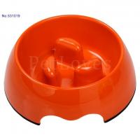 Dog Dish/Feeder Anti-Choke Dog Bowl - Light Orange 531019