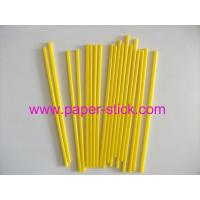 6'' yellow cake pop stick