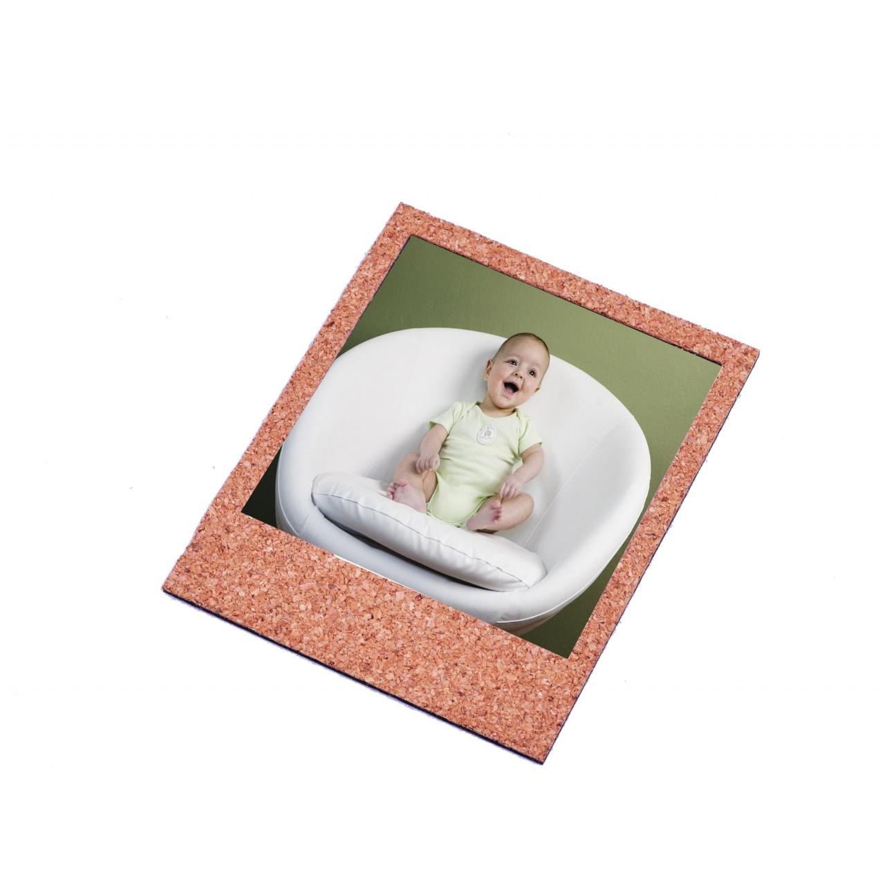 Buy cheap Photo Frame Nature Wood Cork Fridge Magnetic Picture Frame from wholesalers