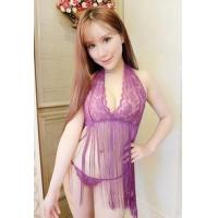 Sexy Wear/Lingerie Sexy Wear - SEE-THROUGH LACE SEXY SET (1025) PURPLE