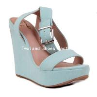 Buy cheap Wedge Shoes Popular stylish women studed high heel wedge sandals shoes f from wholesalers