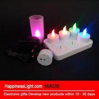 Buy cheap Set of 6 Charging ElectricTea Light with Frosted Plastic Cup from wholesalers