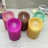 Buy cheap Paraffin Wax Pillar Led Light Crack Moving Flameless Candles product