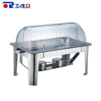 Chafing Dish Oblong Round Roll Chafing Dish with PC Cover
