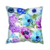 Buy cheap Cushion Silk Flower Embroidered Cushion Cover from wholesalers