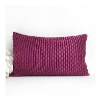 Buy cheap decorative quilted Violet Purple plain color pebbled folds vertical fold China manufacturer from wholesalers