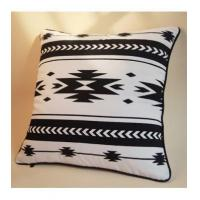 Buy cheap Cushion modern Nordic cushion Indian geometric pattern 45X45 cotton sail wool embroidered pillow from wholesalers