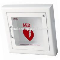 AED defibrillator wall mount cabinet with handle for first aid use