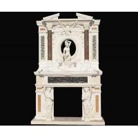 Buy cheap Luxurious carved marble fireplace overmantel from wholesalers