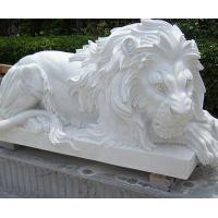 Buy cheap Stone Carving Lion Statues for Home Yard & Garden Decor from wholesalers