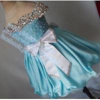 Buy cheap Baby Blue Silver Glass Stone Beaded Off Shoulder Pageant Dress G217 from wholesalers
