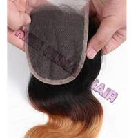 4*4 inch Lace Closure Hot Selling 1B/4/27 color Body Wave 4*4 inch lace closure