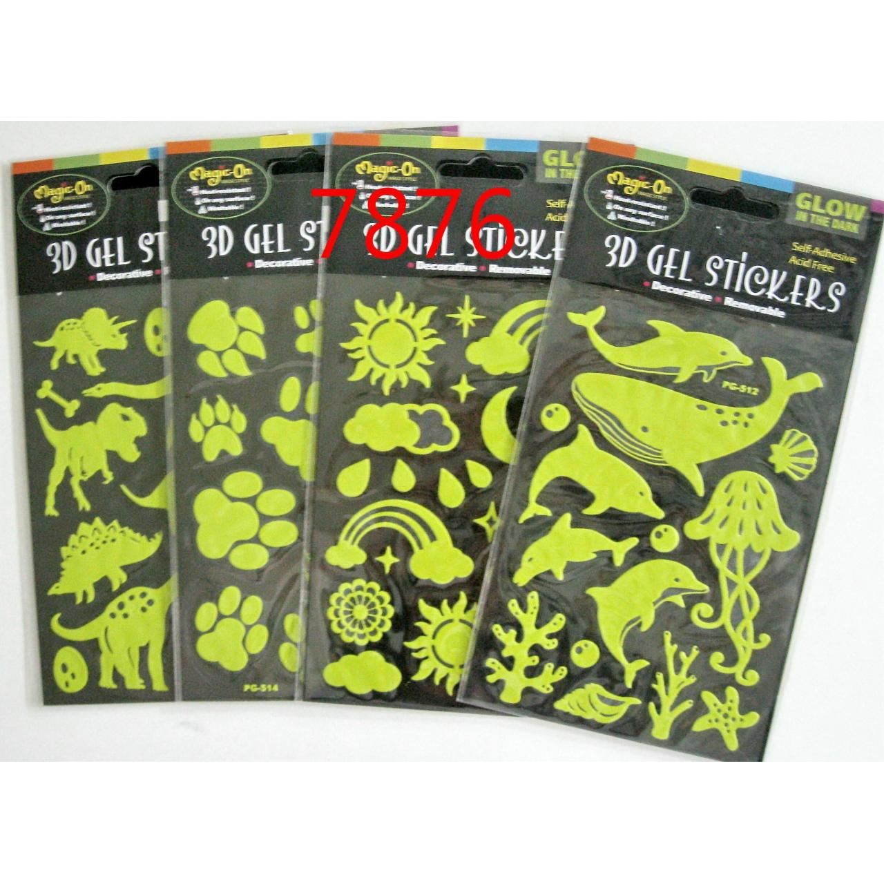 Buy cheap 16 DESIGNS GLOW-IN-THE DARK GEL STICKER from wholesalers