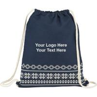 Buy cheap Custom Drawstring Bags Promotional Logo Fair Isle Cotton Cinch Bags from wholesalers
