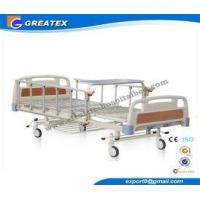 Buy cheap Durable frame Steel board Two Crank Manual Bariatric Hospital Beds With Foldable Table from wholesalers