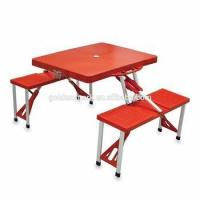 Buy cheap Portable Folding Patio Outdoor Plastic umbrella Camp Picnic Table and Chair set from wholesalers