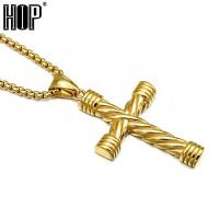 Buy cheap Pendant Necklaces Mens Gold Cross Necklace from wholesalers