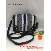 Buy cheap PU Leather Women Bowler Bags in Black and White Pattern product