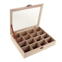 Buy cheap Wooden Tea Box With 16 Dividers from wholesalers
