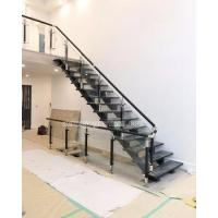 Buy cheap Stainless steel wood stair glass balustrade from wholesalers