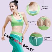 Buy cheap Contrast Color I-Shaped Dance Wear Bra Top from wholesalers