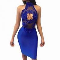 The ROYALE - Turtleneck Backless Lace Pencil Dress
