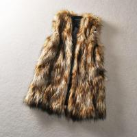 Buy cheap Long Line Straight Cut Design Faux Wolf Fur Woman Vest Coat from wholesalers