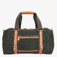 Buy cheap Canvas duffel bag with leather trim from wholesalers